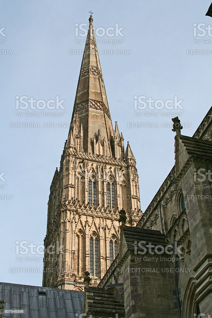 England: Salisbury Cathedral stock photo