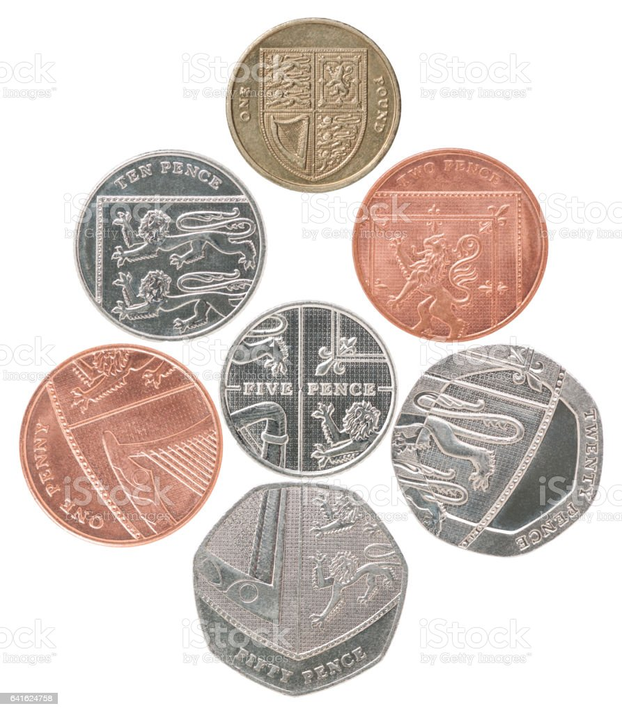 England set coin stock photo