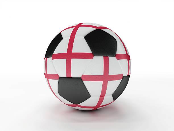 England soccer football ball stock photo