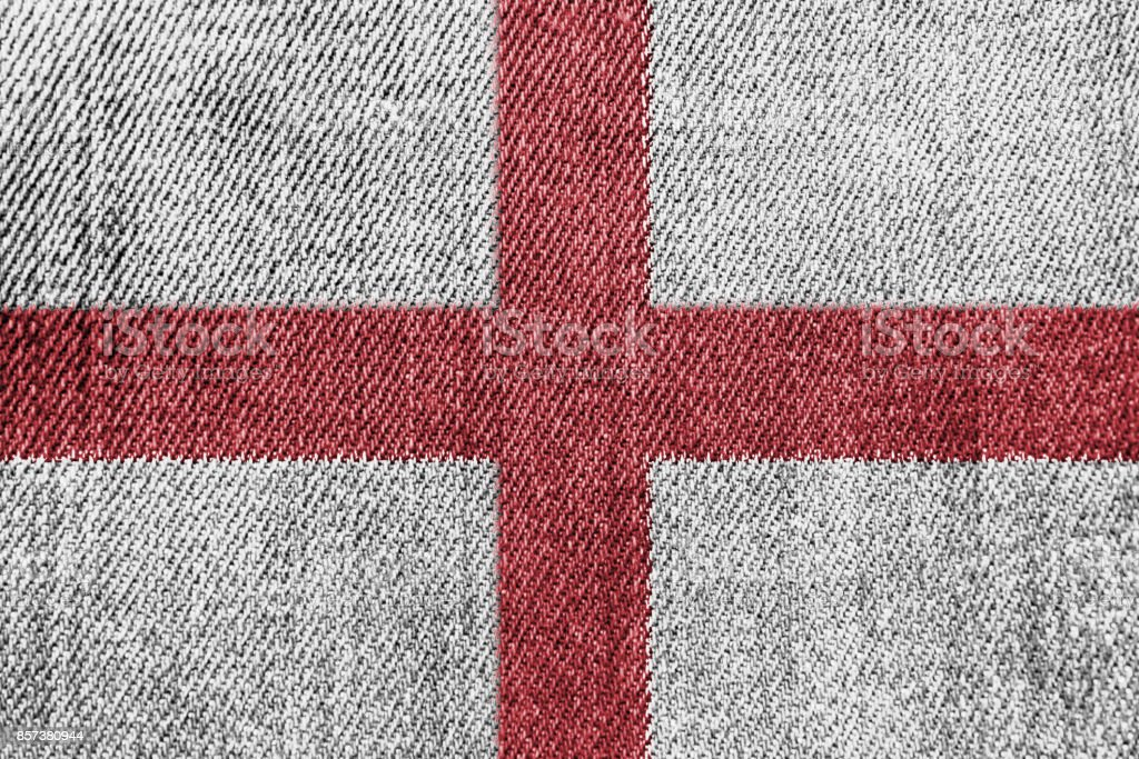 England Textile Industry Or Politics Concept: English Flag Denim...
