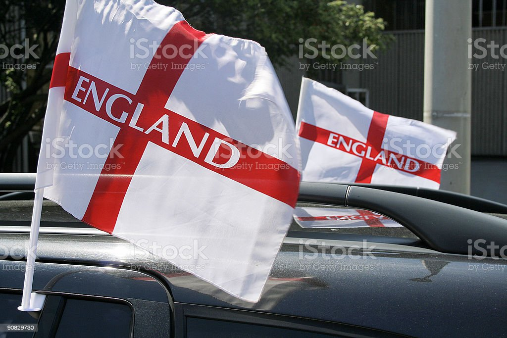England World Cup flags royalty-free stock photo