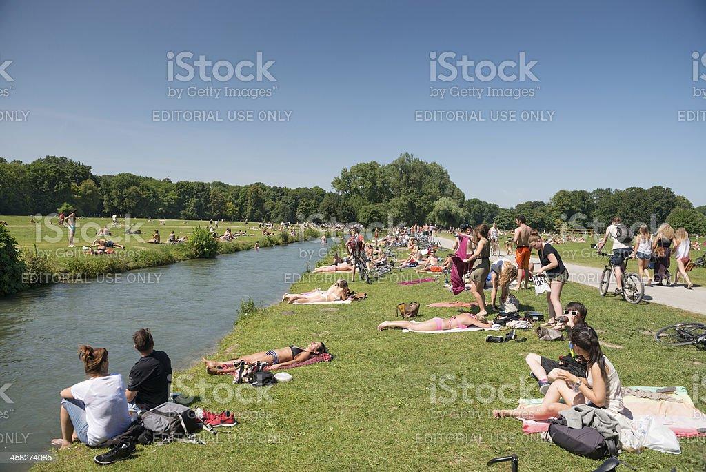 Englischer Garten, Munique, Bavária, Alemanha Foto Royalty Free