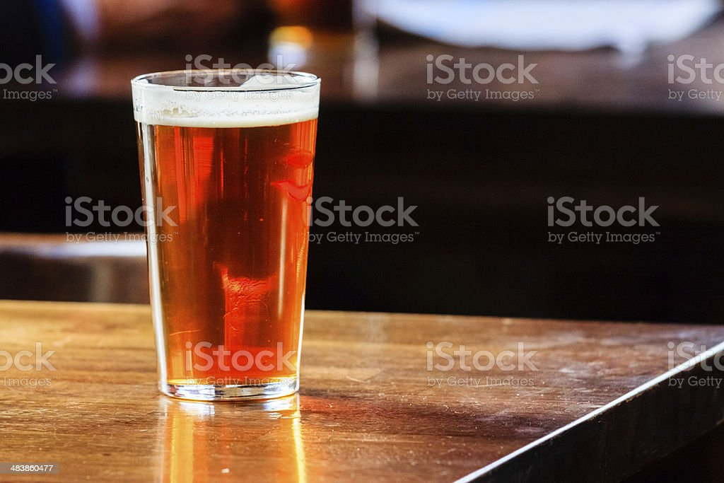 English ale on a table stock photo
