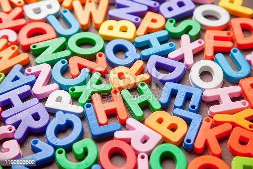 185257431 istock photo English alphabet blocks placed randomly 1190603502