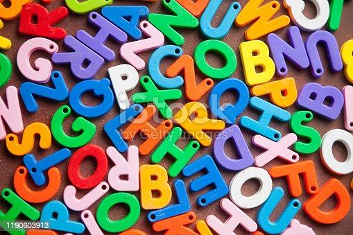 185257431 istock photo English alphabet blocks placed randomly 1190603913