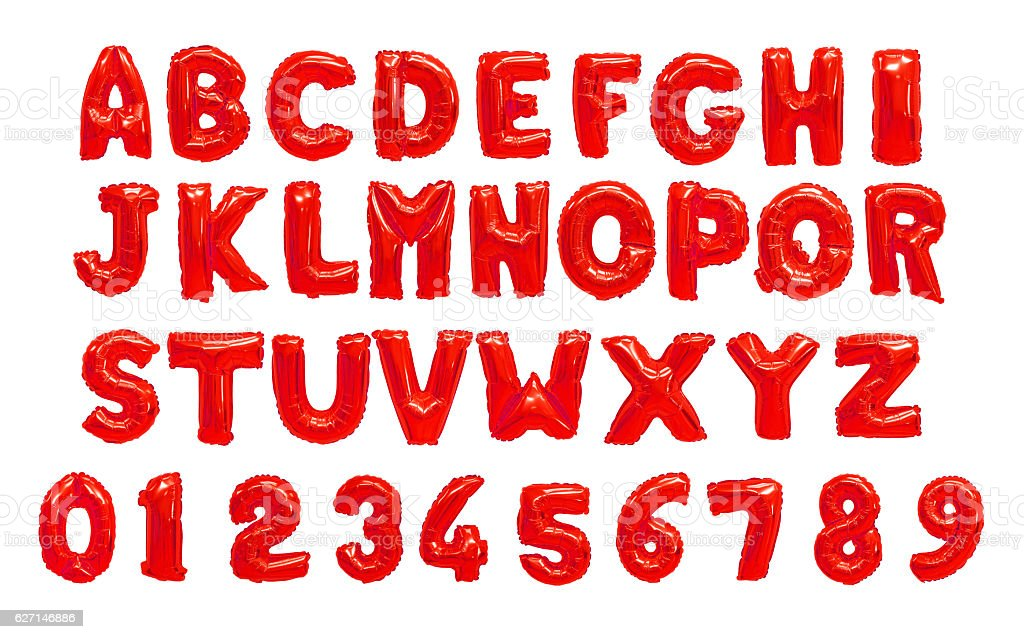 English alphabet red stok fotoğrafı