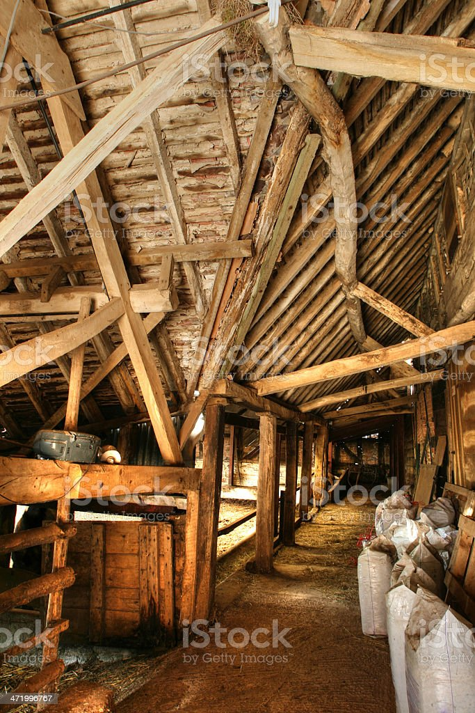 English barn structure stock photo