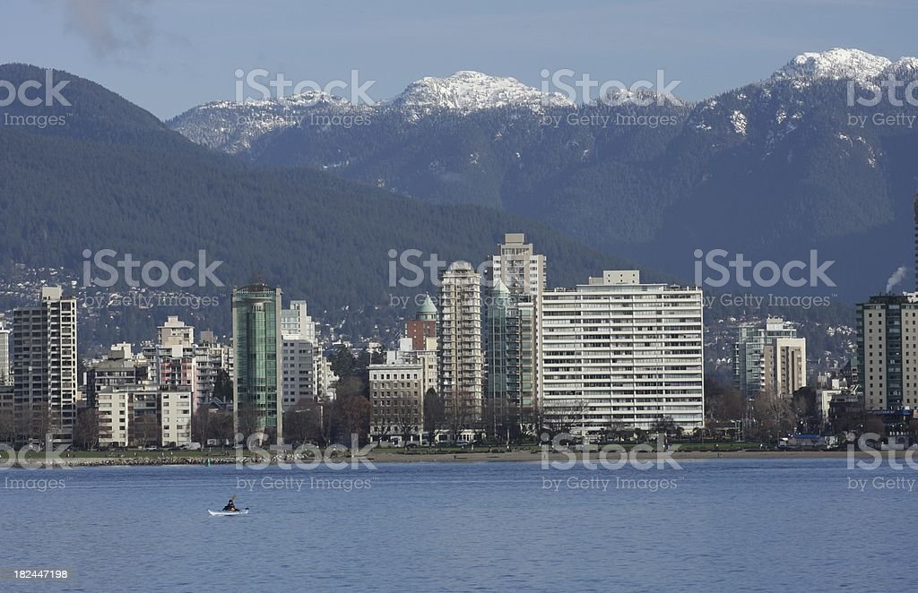 English Bay and West End High-Rises, Vancouver, Canada stock photo