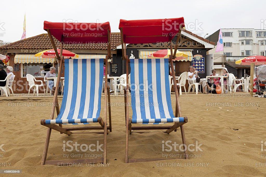 Sedia A Sdraio In Inglese.Inglese Scena Con Sedie A Sdraio Sulla Spiaggia Fotografie