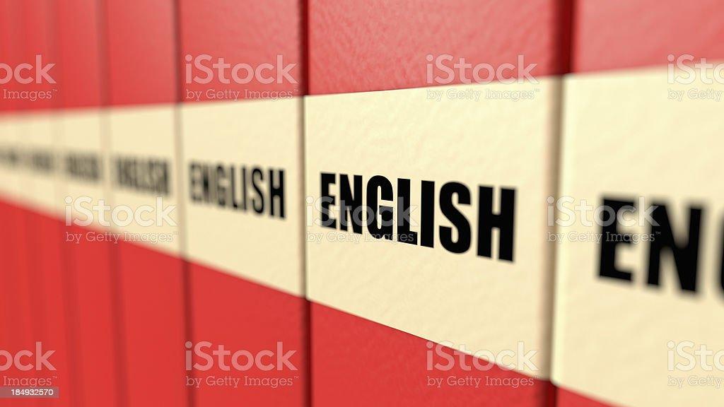 English Books royalty-free stock photo