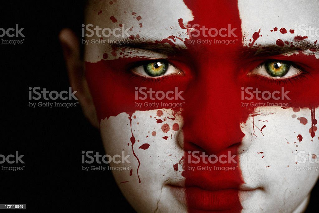 English boy with the flag of England royalty-free stock photo