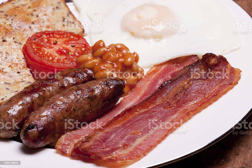 English breakfast macro picture royalty-free stock photo