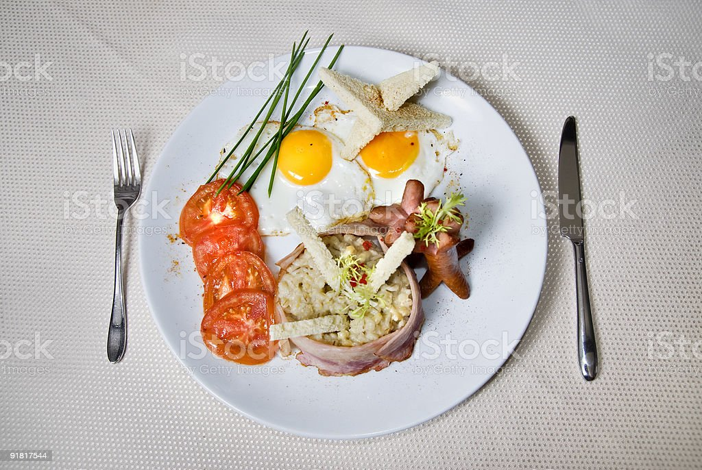 English breakfast on the table royalty-free stock photo