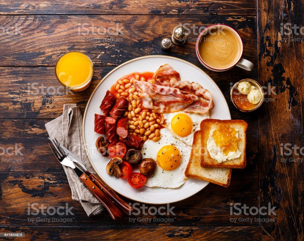Engelsk frukost bildbanksfoto