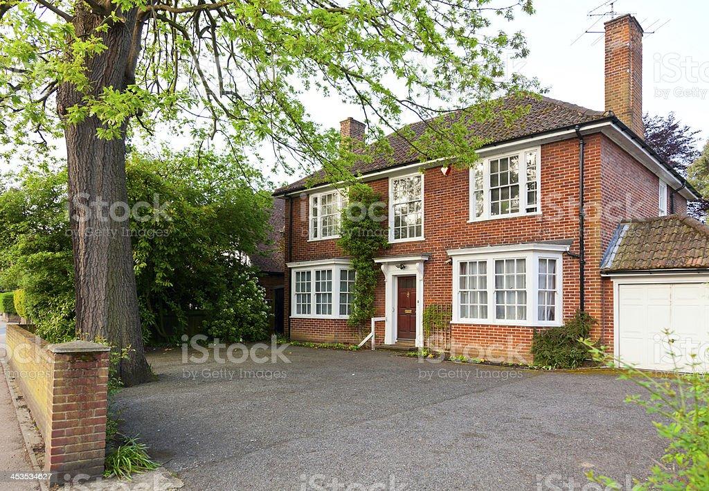 English brick house stock photo