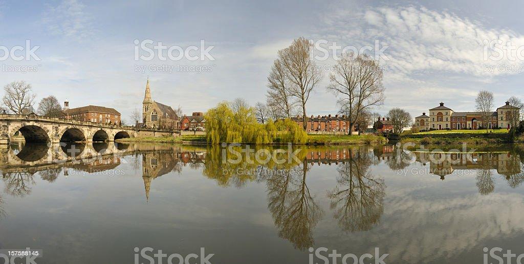 English Bridge and the River Severn stock photo