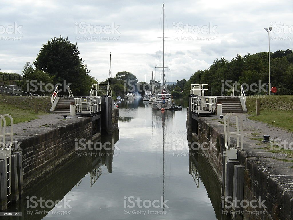 English canal scene royalty free stockfoto
