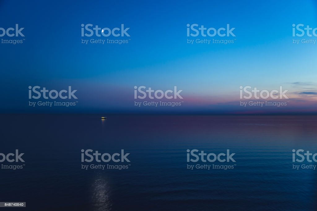 English Channel at night stock photo