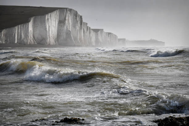 english channel storm - english channel stock pictures, royalty-free photos & images