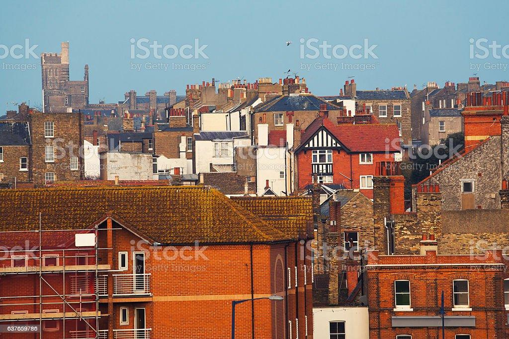 English city architecture stock photo