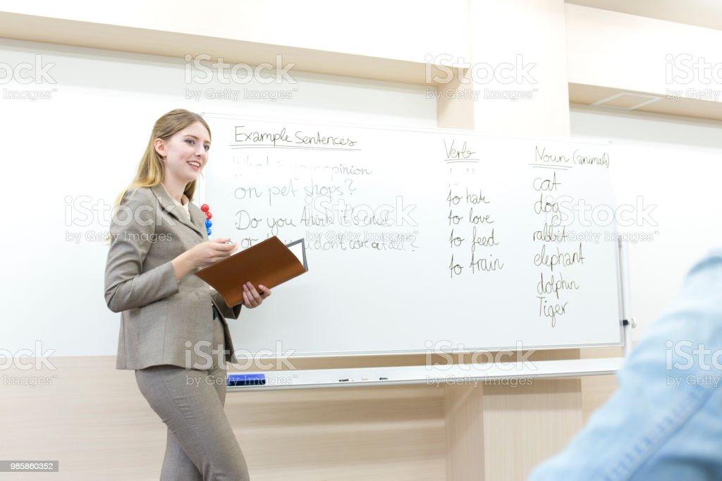 英語クラス ストックフォト