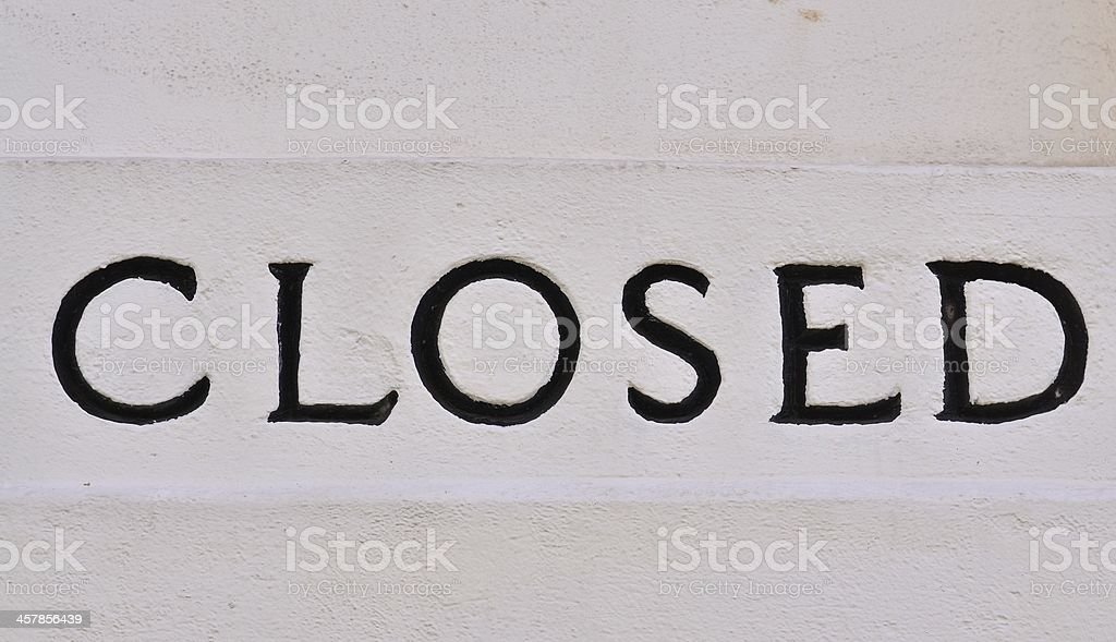 English closed letter on the wall royalty-free stock photo