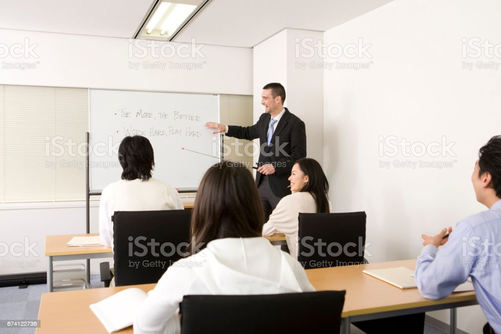 English conversation class royalty-free stock photo