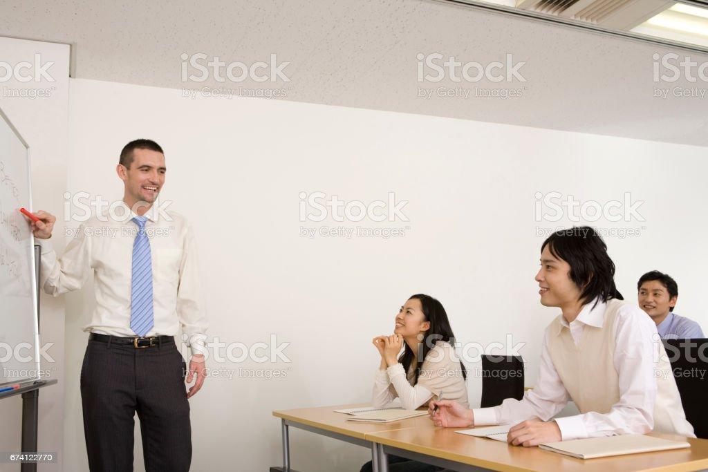 英語會話班 免版稅 stock photo