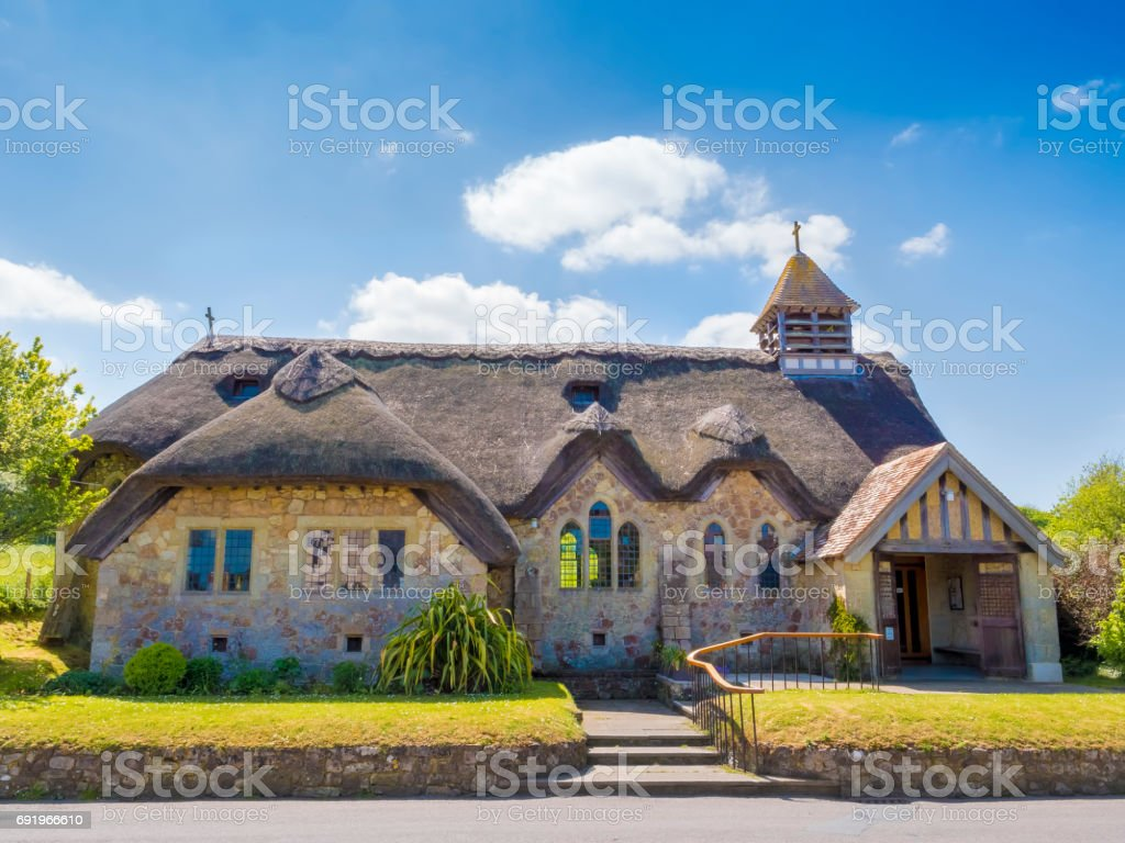 English cottage church stock photo