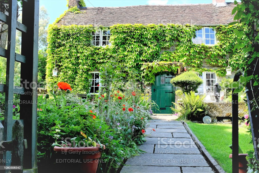 English cottage, Derbyshire. stock photo