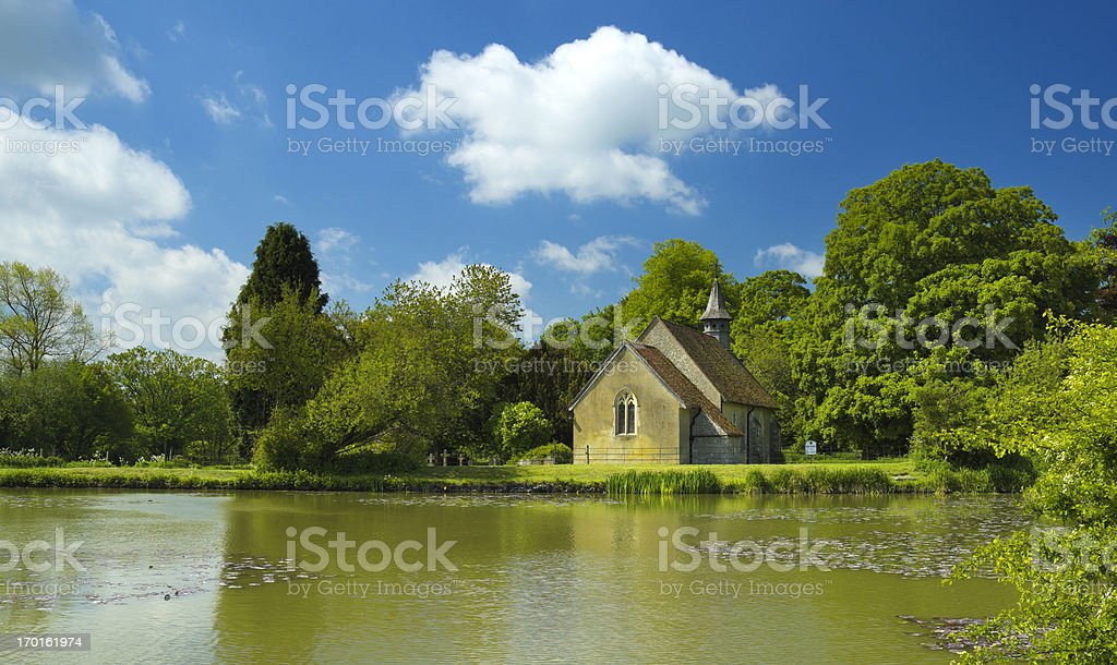 English Country Church stock photo