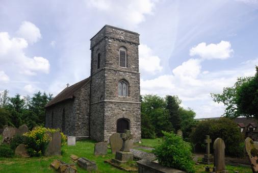 A church scene set in an English country parish