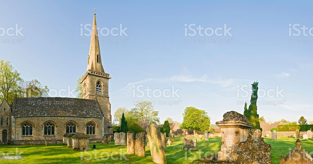 English country churchyard stock photo