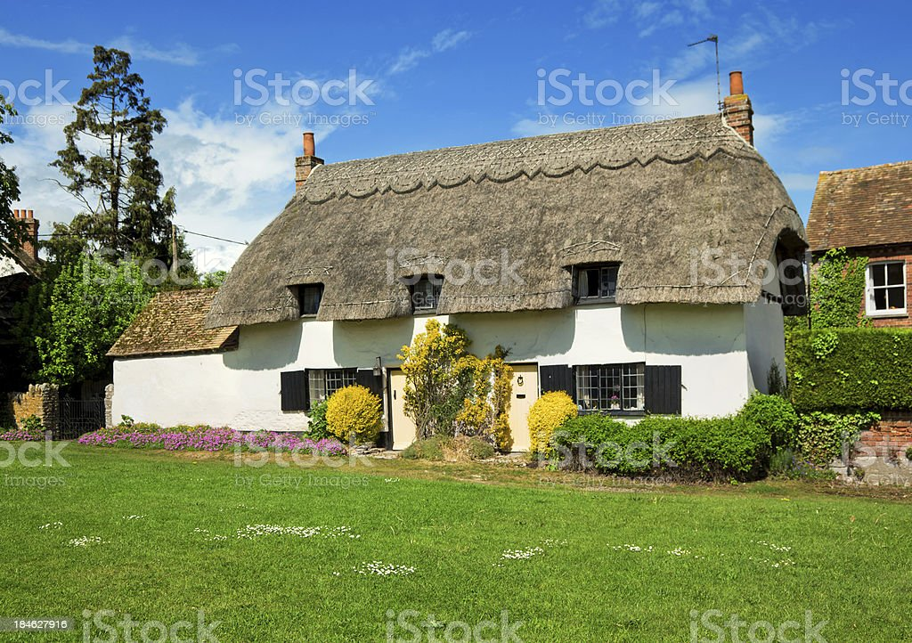 English Country Cottage stock photo