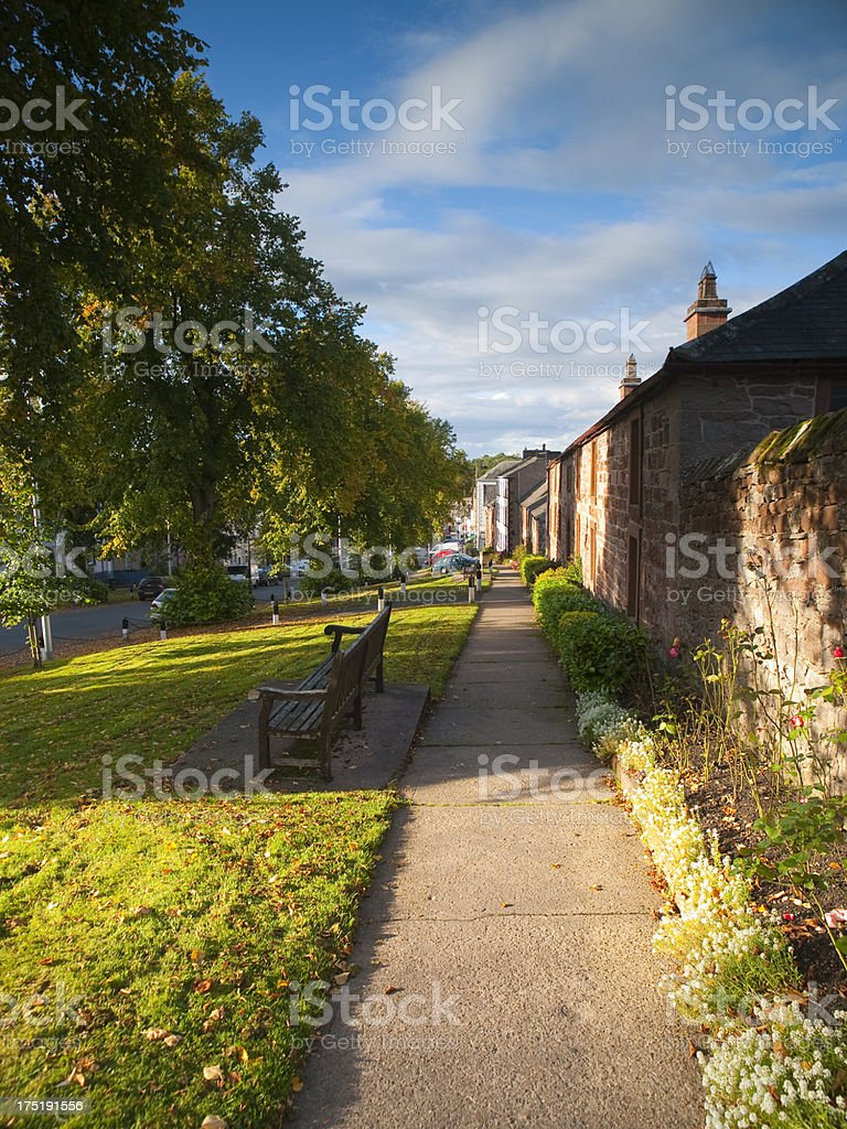 English Country Cottages stock photo