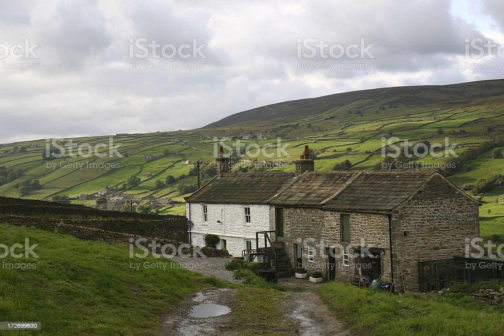 English country farmhouse royalty-free stock photo