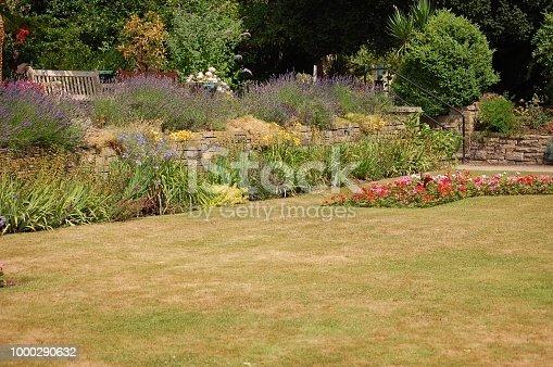 Nature walk around an English Country Garden in Summer