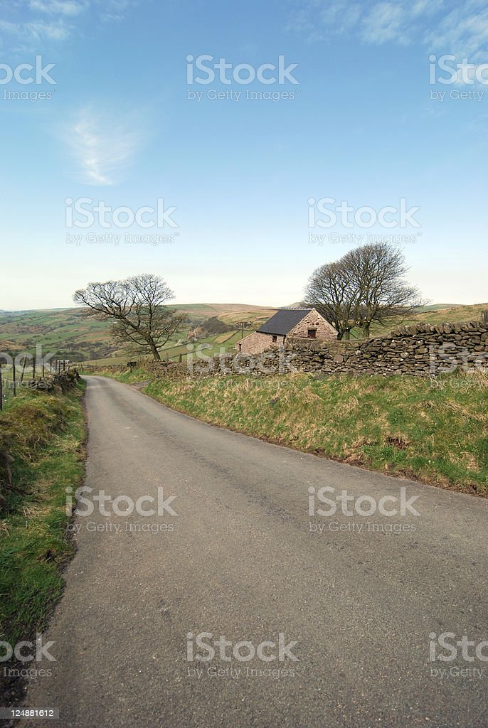 English countryside peak district royalty-free stock photo