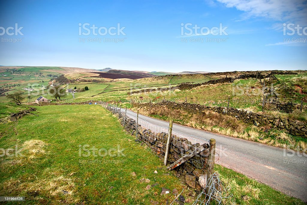 English countryside peak district stock photo