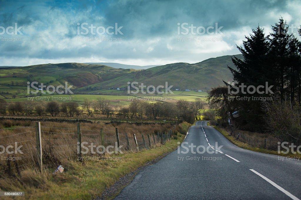 English Countryside Road stock photo