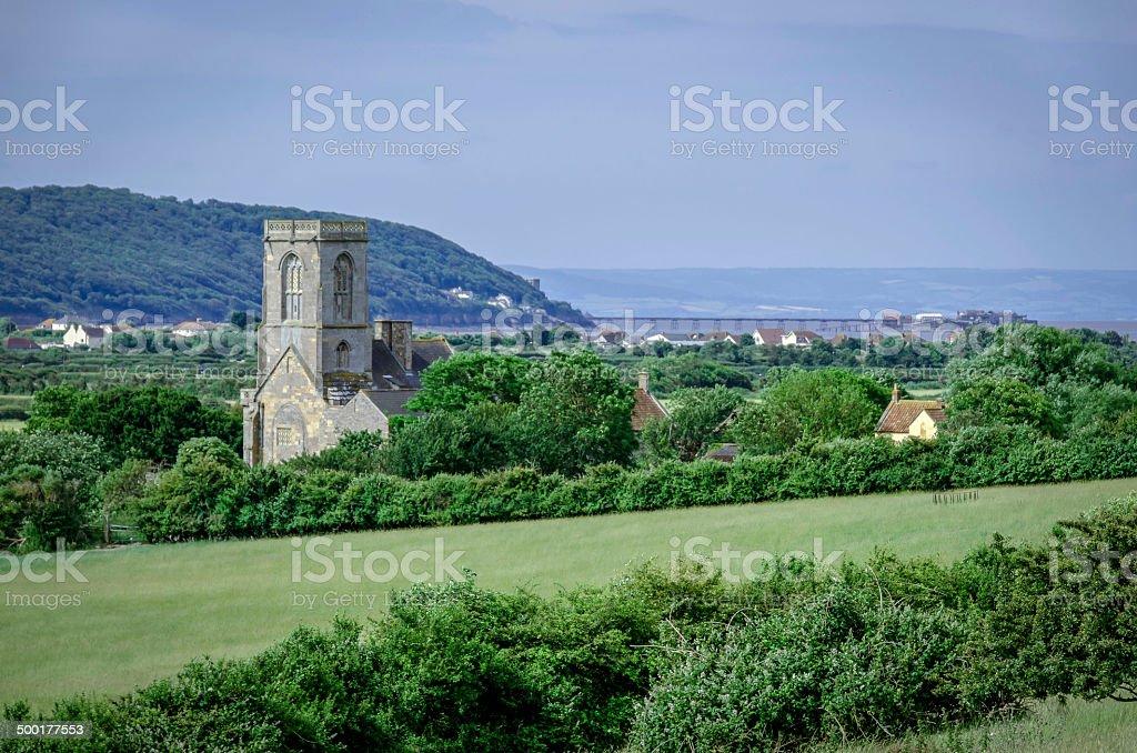 English Countryside Village Landscape Colour Image Stock Photo ...