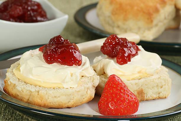 english cream scone stock photo