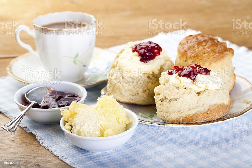 English Cream Tea - Royaltyfri Baka Bildbanksbilder