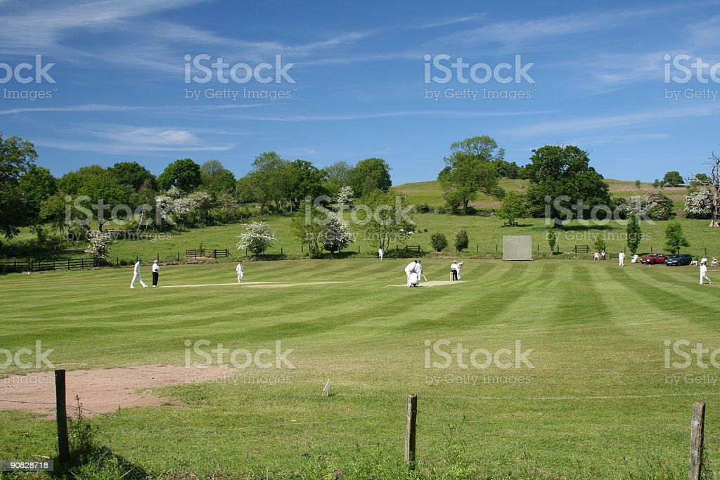 English Cricket Team royalty-free stock photo