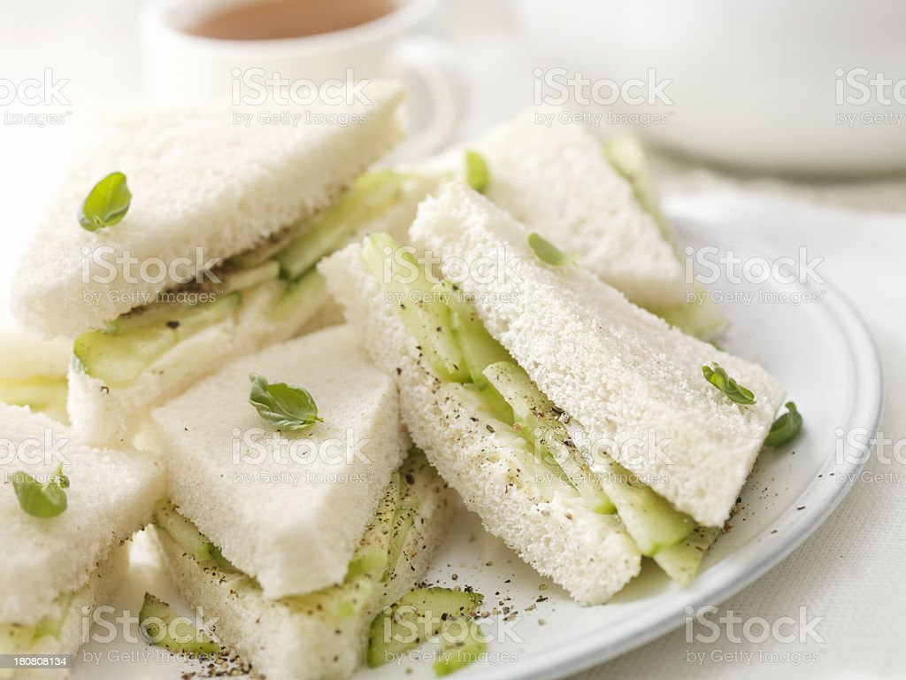 English Cucumber Sandwiches royalty-free stock photo