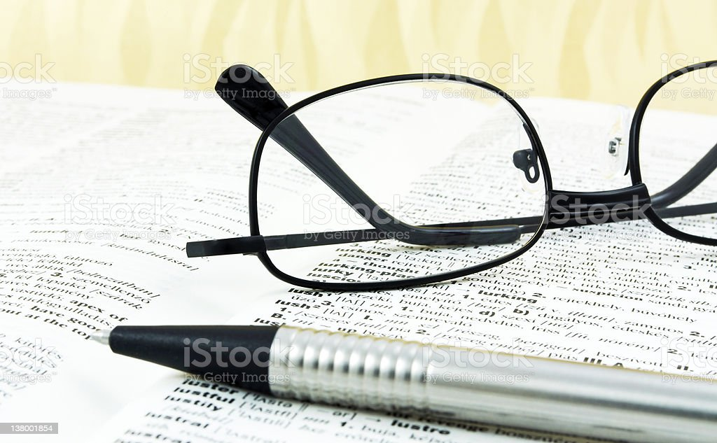 English dictionary royalty-free stock photo