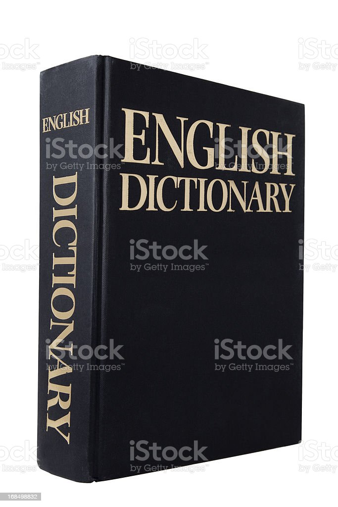 English Dictionary English Dictionary isolated on White Book Stock Photo