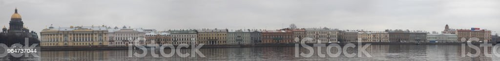 English embankment. St.Petersburg. Russia royalty-free stock photo
