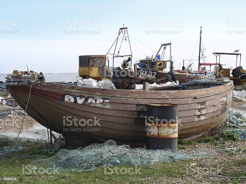 English fishing boat royalty-free stock photo