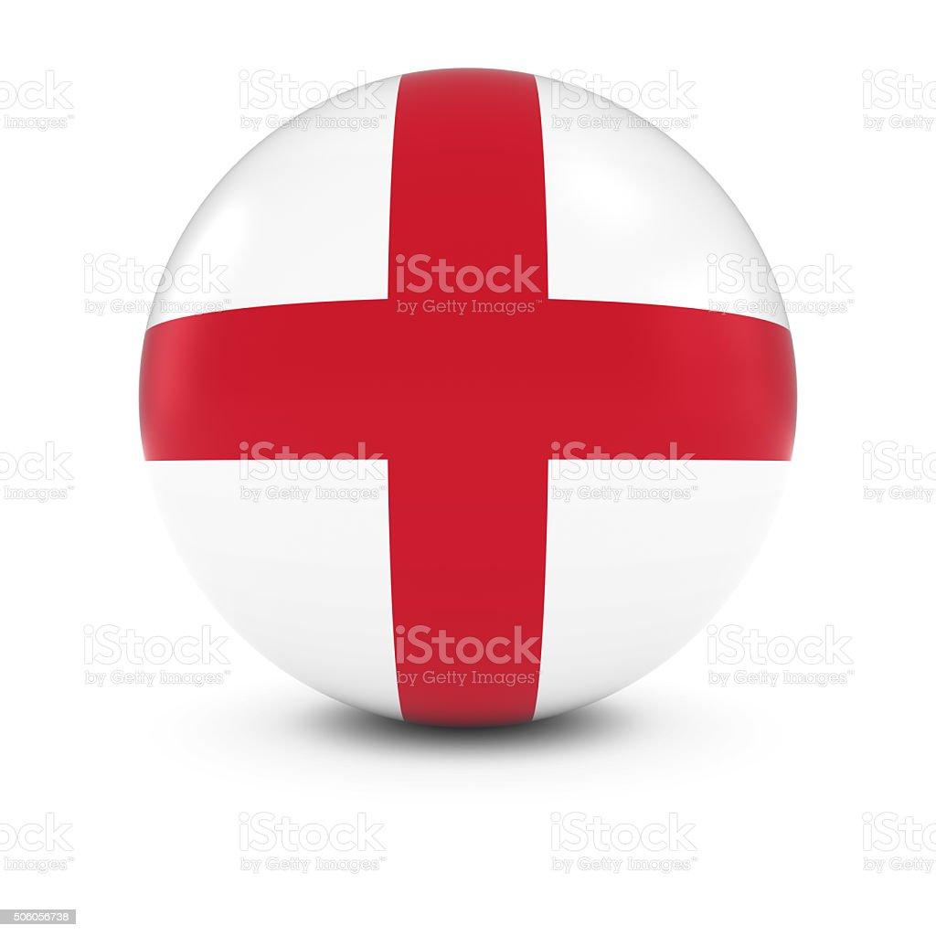 English Flag Ball - Flag of England on Isolated Sphere stock photo